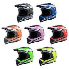 Zox Rush Lucid Junior Youth Street Motocross Dirt Off Road Motorcycle Helmet Green