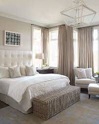 taupe color palette in light bedroom design