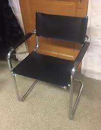 leather and chrome chair. Image Is Loading Mid-Century-Chair-Chrome-amp-Black-Leather-Made- Leather And Chrome Chair N