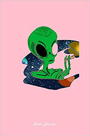 Buy Alien Journal: Dot Grid Journal - Alien Smoking ... - Amazon.in