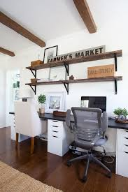 home office style. 2u2033x12u2033 pine boards distressed and stained special walnut 4 ikea brackets home office style a