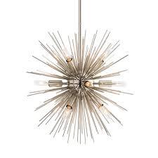 arteriors mini zanadoo chandelier nickel