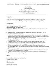 Samples Of Career Objectives On Resumes Objective Of Resume Sample