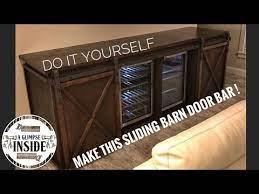 diy sliding barn door bar media