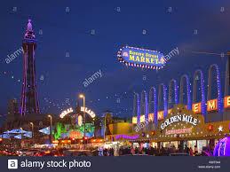 Blackpool Illuminations And Tower 2017 Stock Photo