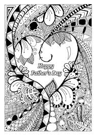 father s day coloring page with zentangle patterns