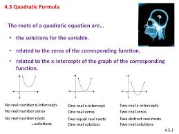 2 the roots of a quadratic equation