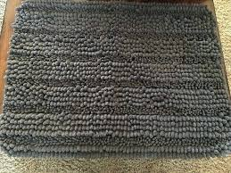 chenille bath mat canada or floor graphite gray slate limited s