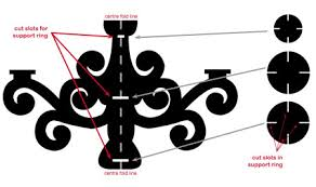 make a cardboard chandelier