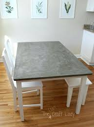 concrete top table concrete dining table top using full tutorial from the crazy craft lady round concrete table top diy