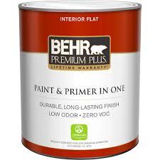 Ultra Pure White Flat Zero VOC Interior Paint-105004 - The Home Depot
