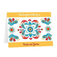 Bright Spanish Decor Thank You Card