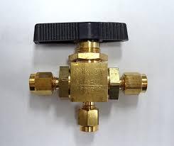 1 4 npt 3 way mini brass ball valve 500 psi l port for fuel oil mini brass ball valve 3 way 1 8 compression connections