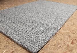 rope wool rug grey