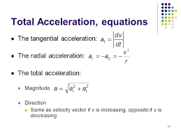total acceleration equations