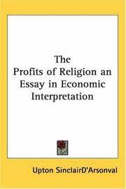 the profits of religion an essay in economic interpretation by  image of the profits of religion an essay in economic interpretation