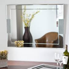 décor wonderland francisca large frameless wall mirror 23 6w x 31 5h in hayneedle