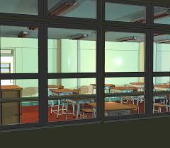 classroom window. Anime Background: Classroom III By FireSnake666 Window