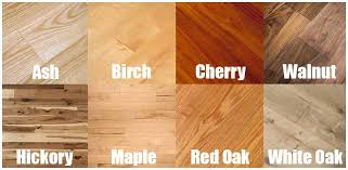 color grid for diffe types of hardwood flooring