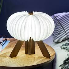 R Space Led Desk Lamp Wireless Rechargeable Walnut