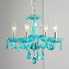 turquoise chandelier lighting. Color Crystal Mini Chandelier Turquoise Lighting