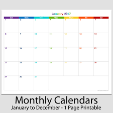 2017 calendars by month 2017 monthly calendar template blank calendar printable