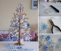 Christmas Decorations Made Out Of Plastic Bottles Wonderful DIY Beautiful Snowflake Ornaments from Plastic Bottles 11