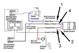 installing a trailer wiring package how to wire a trailer images four wire connnections are required for installation of a brake wiring schematic for trailer