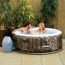 never leave your backyard again because you have an inflatable portable hot tub