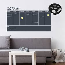 Write And Erase Weekly Planner Wall Sticker Kaydee