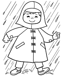 Small Picture Raincoat Coloring Page