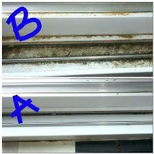 cleaning sliding glass door track hot vinegar water works wonders on sliding glass door tracks how
