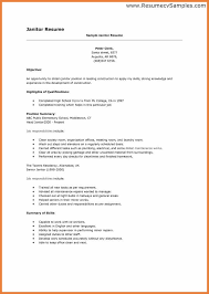 Custodian Resume Sop Proposal