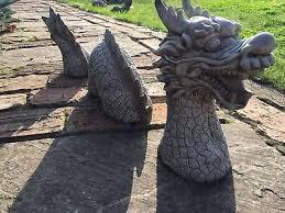 details about chinese dragon stone ornament garden concrete sculpture 3 piece dragon statue