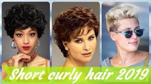 Top 20 Short Haircuts For Women With Curly Hair 2019 Youtube