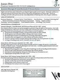Sample Wait Staff Resume Manager Cover Letter Example Staff Resume