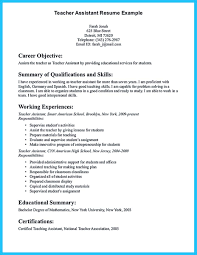 Assistant Teacher Resume Samples Grabbing Your Chance With An Excellent Assistant Teacher