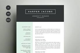 Microsoft Word Resumes Templates Resume Template 4 Pack Template