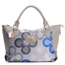 Coach Fashion Monogram Large Grey Totes BXJ