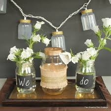 Decorated Jars For Weddings Rustic Glam Wedding Decor dollargeneral The Country Chic Cottage 92