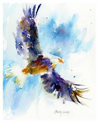 eagle painting soaring eagle by christy lemp
