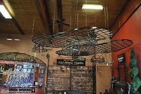 diy hanging pot rack with lights