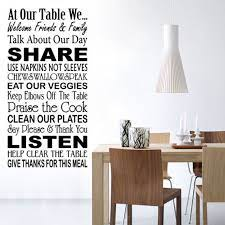 at our table wall quotes wall decals