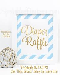 raffle sign printable diaper raffle sign for boy baby shower baby blue