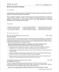 Resume Resume Example Manufacturing manufacturing manager free resume  samples blue sky resumes old version version