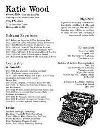 Katie Wood Digital Portfolio Digital Resume Clips