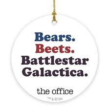 Image Dwight Bobblehead Battlestar Galactica Ornament The Office Bears Beets Battlestar Galactica Ornament Nbc Store The Office Holiday Gift Guide Ornaments Worlds Best Boss Mug