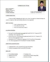 Curriculum Vitae Sample Format Adorable Resume Sample Format Resume Badak