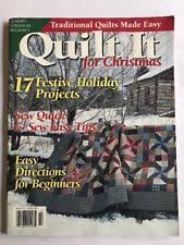 quilting for christmas magazine | eBay & Quilter's Newsletter Magazine, Quilt It for Christmas 2001 17 Festive  Projects Adamdwight.com