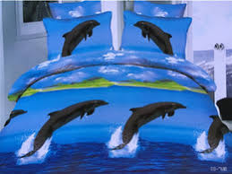 Queen Size Dolphin Quilt Cover Australia | New Featured Queen Size ... & 3D Dolphin Bedding sets Blue Sea quilt duvet cover set bed in a bag sheets  linen bedspread bedset Queen size Full double 4PCS Adamdwight.com
